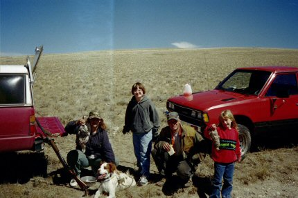 Bonner, girls and friends hunting grouse 2000